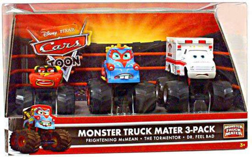 Disney Cars Cars Toon Multi-Packs Monster Truck Mater Exclusive Diecast Car Set [Set #1]