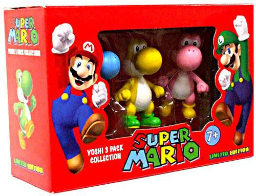 Super Mario Yoshi 3-Pack Collection Mini Figures
