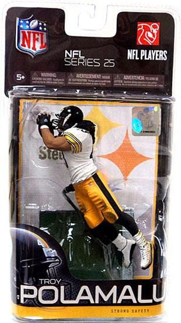 McFarlane Toys NFL Pittsburgh Steelers Sports Picks Series 25 Troy Polamalu Action Figure [White Jersey]