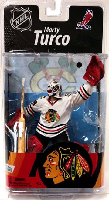 McFarlane Toys NHL Chicago Blackhawks Sports Picks Series 27 Marty Turco Action Figure [White Jersey]