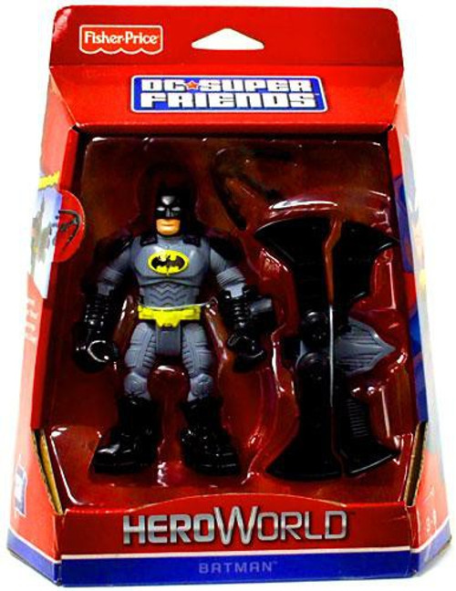 Fisher Price DC Super Friends Hero World Batman Action Figure