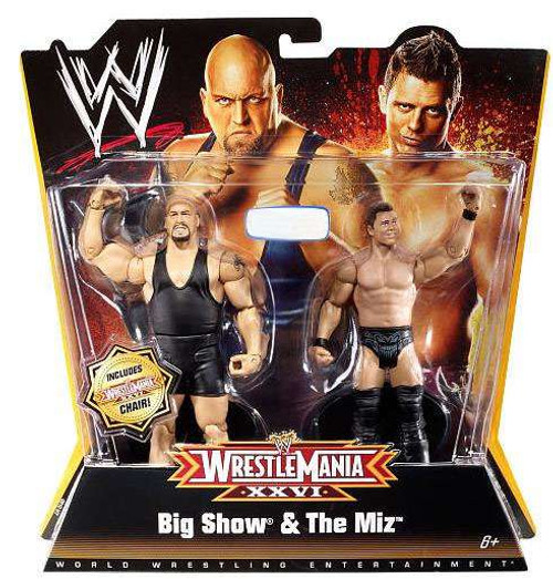 WWE Wrestling WrestleMania 26 Big Show & The Miz Exclusive Action Figure 2-Pack
