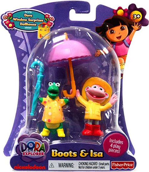 Fisher Price Dora the Explorer Boots & Isa Action Figure 2-Pack [Rain Gear]