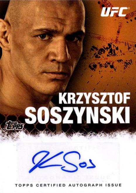 UFC 2010 Championship Krzysztof Sosynski Autograph Card FA-KS