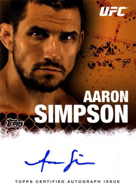UFC 2010 Championship Autograph Fighters & Personalities Aaron Simpson FA-ASI