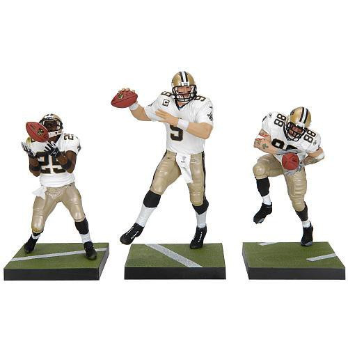 McFarlane Toys NFL Sports Picks 3-Packs New Orleans Saints Exclusive Action Figure 3-Pack [White Jerseys]