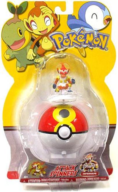 Pokemon Attack Spinners Infernape Figure