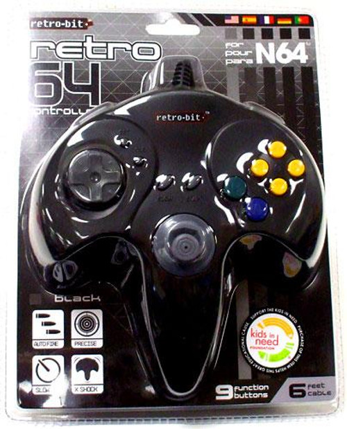Nintendo Retro N64 Video Game Controller [Black]