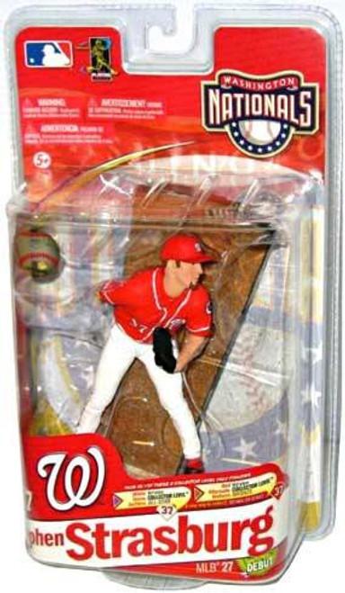 McFarlane Toys MLB Washington Nationals Sports Picks Series 27 Stephen Strasburg Action Figure [Red Jersey]