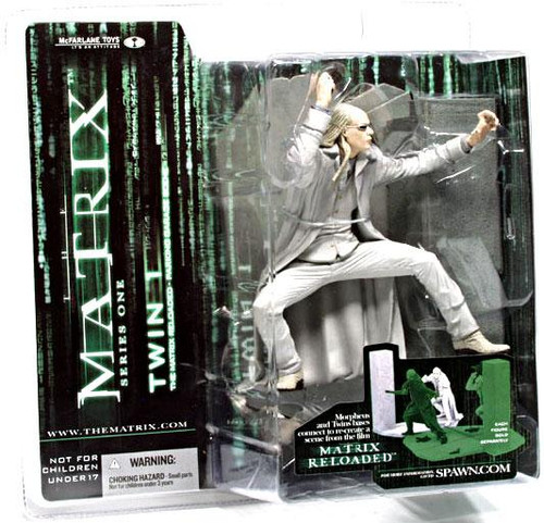 McFarlane Toys The Matrix Matrix Reloaded Series 1 Twin 1 Action Figure