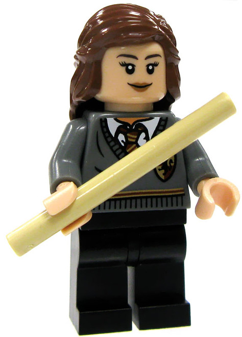 LEGO Harry Potter Loose Hermione Granger Minifigure #1 [Gryffindor Uniform with Tan Wand Loose]