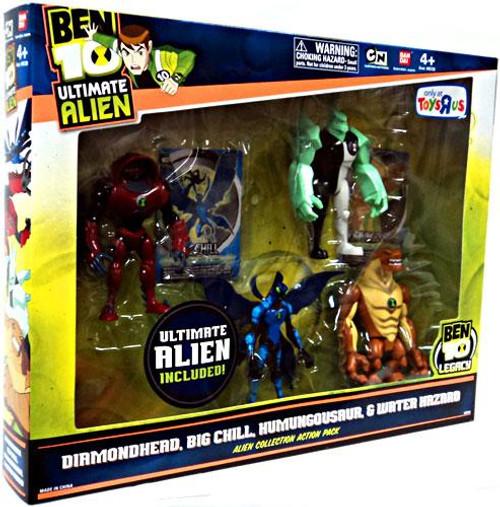 Ben 10 Ultimate Alien Alien Collection Action Pack #1 Exclusive Action Figure Set #1