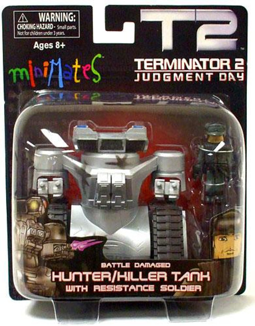 The Terminator Terminator 2 Judgment Day MiniMates Battle Damaged Hunter / Killer Tank with Resistance Soldier Minifigure Set