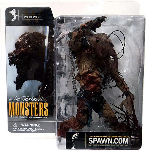 McFarlane Toys McFarlane's Monsters Series 1 Werewolf Action Figure [Blood Splattered Package Variant]
