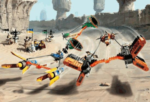 LEGO Star Wars Loose Mos Espa Podrace Set #7171 [Loose, No Minifigures]