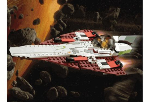 LEGO Star Wars Loose Jedi Starfighter Set #7143 [Loose, No Minifigures]