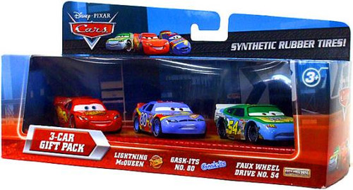 Disney Cars Synthetic Rubber Tires 3-Car Gift Pack Exclusive Diecast Car Set
