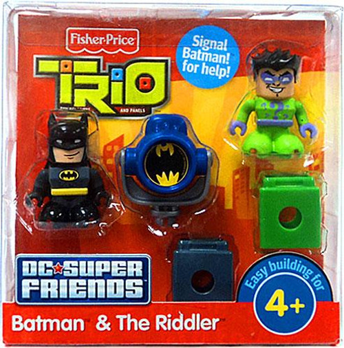 Fisher Price Trio DC Super Friends Batman & The Riddler Minifigure 2-Pack