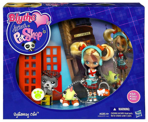 Littlest Pet Shop Blythe Loves Blythe's Travel Sightseeing Cute Figure Set B15, 1250, 1261