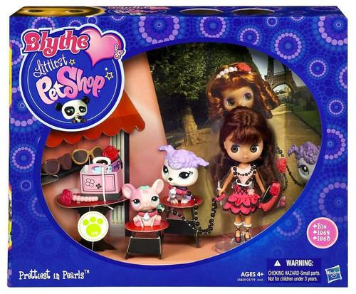Littlest Pet Shop Blythe Loves Blythe's Travel Prettiest in Pearls Figure Set B16, 1862, 1260