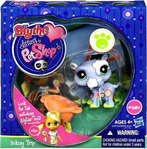Littlest Pet Shop Blythe Loves Postcards Series 1 Hiking Trip Hippo Figure #1950