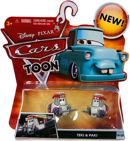 Disney Cars Cars Toon Main Series Teki & Paki Diecast Car #19 & 20