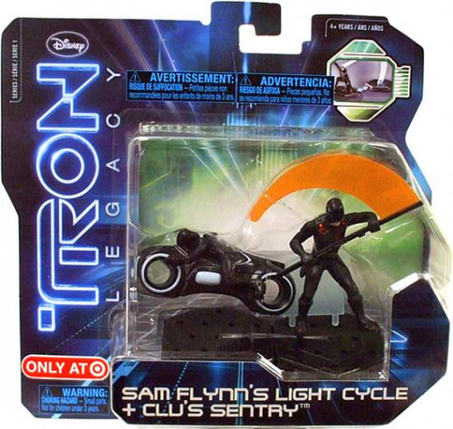 Tron Legacy Series 1 Sam Flynn's Light Cycle & Clu's Sentry Exclusive Figure 2-Pack