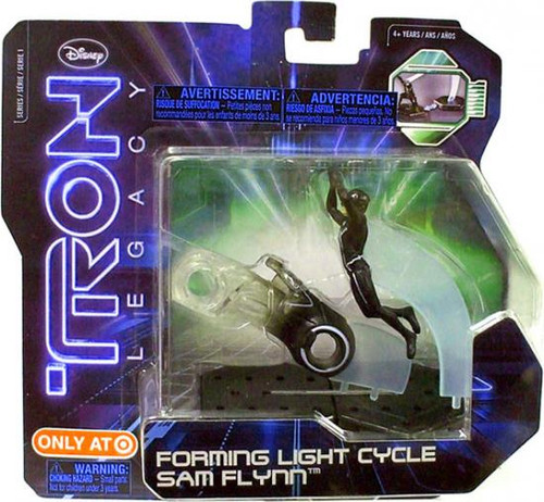 Tron Legacy Series 1 Forming Light Cycle Sam Flynn Exclusive Figure 2-Pack