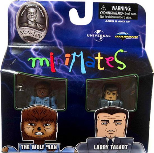 Universal Monsters MiniMates The Wolfman & Larry Talbot Minifigure 2-Pack