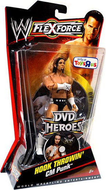 WWE Wrestling FlexForce DVD Heroes Series 2 Hook Throwin' CM Punk Exclusive Action Figure
