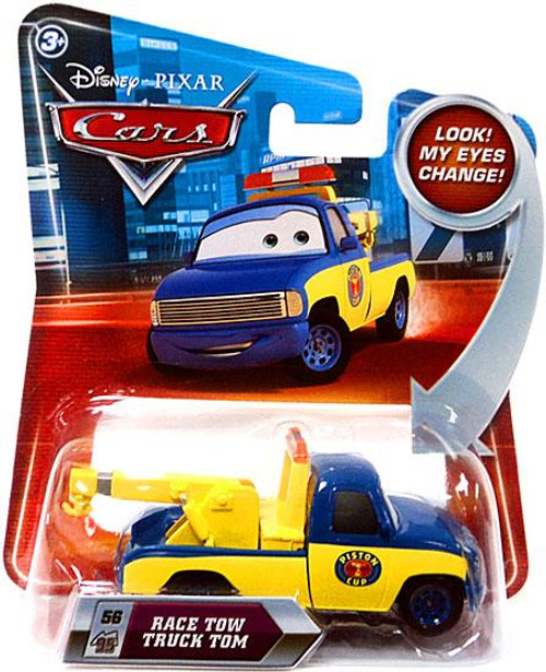 Disney Cars Lenticular Eyes Series 2 Race Tow Truck Tom Diecast Car