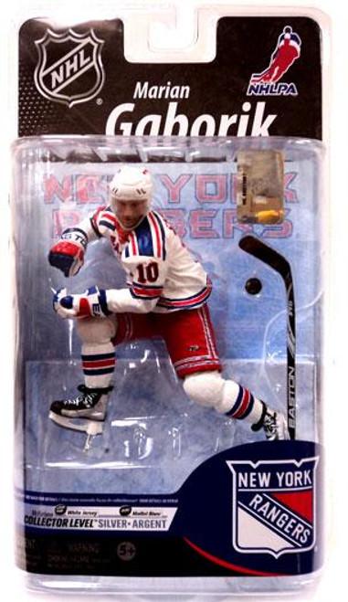 McFarlane Toys NHL New York Rangers Sports Picks Series 25 Marian Gaborik Exclusive Action Figure [White Jersey]