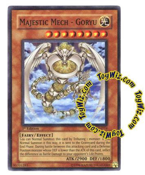 YuGiOh GX Enemy of Justice Super Rare Majestic Mech - Goryu EOJ-EN016