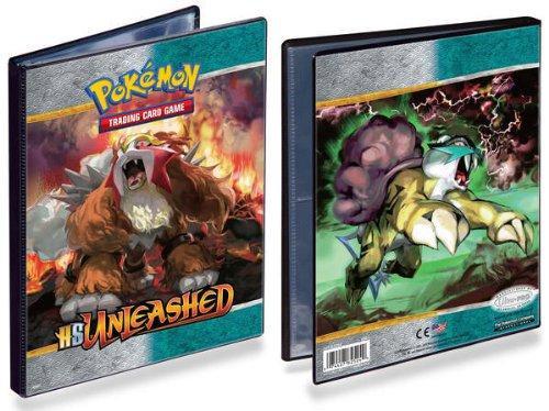 Ultra Pro Pokemon HeartGold & Soulsilver Unleashed Entei & Raikou 4-Pocket Binder