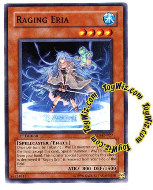 YuGiOh GX Enemy of Justice Common Raging Eria EOJ-EN027
