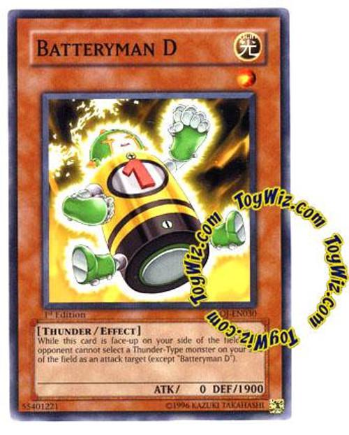 YuGiOh GX Enemy of Justice Common Batteryman D EOJ-EN030