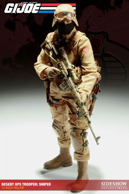 GI Joe Cobra Enemy Desert Ops Trooper: Sniper 1/6 Collectible Figure