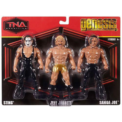 TNA Wrestling Genesis Sting, Jeff Jarret & Samoa Joe Action Figure 3-Pack