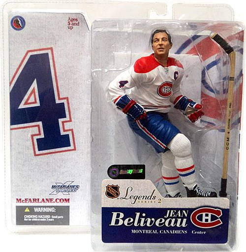 McFarlane Toys NHL Montreal Canadiens Sports Picks Legends Series 2 Jean Beliveau Action Figure [White Jersey Variant]