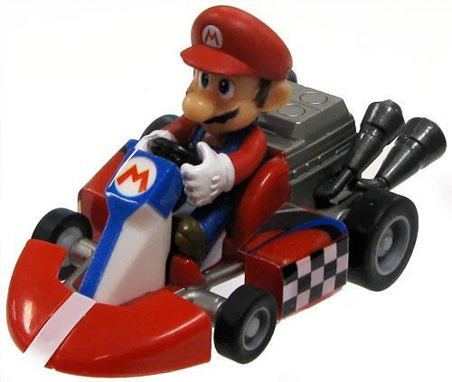 Super Mario Mario Kart Gacha Mario 1 1/2-Inch Pull Back Racer [Rounded Front Bumper]