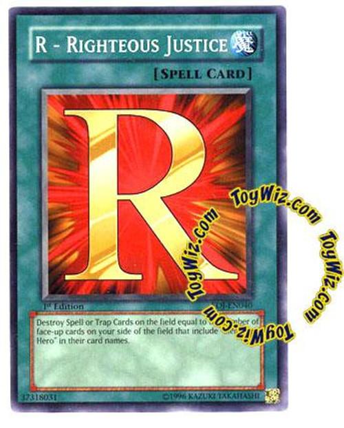 YuGiOh GX Enemy of Justice Common R - Righteous Justice EOJ-EN040