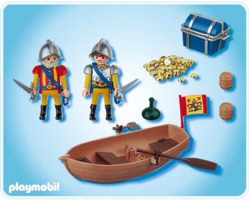 Playmobil Pirates Treasure Transporter with Row Boat Set #4295