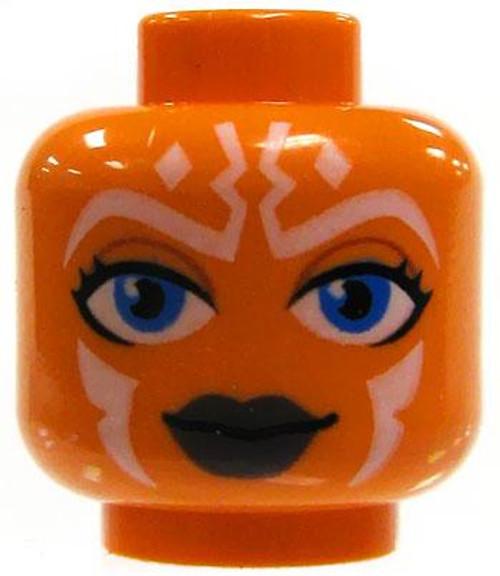 Star Wars LEGO Minifigure Parts Orange Female Togruta Whtie Markings & Blue Eyes Minifigure Head [Loose]