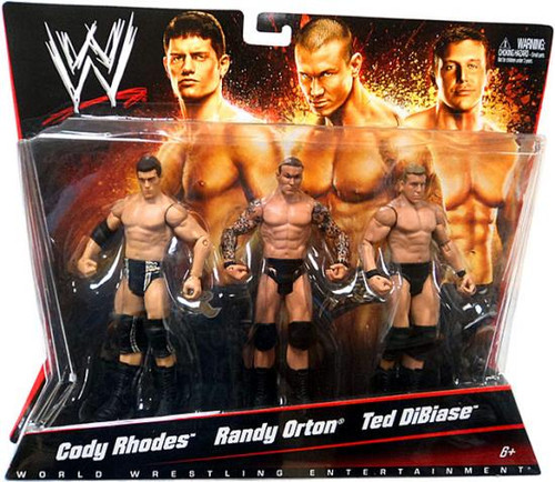 WWE Wrestling Cody Rhodes, Randy Orton & Ted DiBiase Exclusive Action Figure 3-Pack
