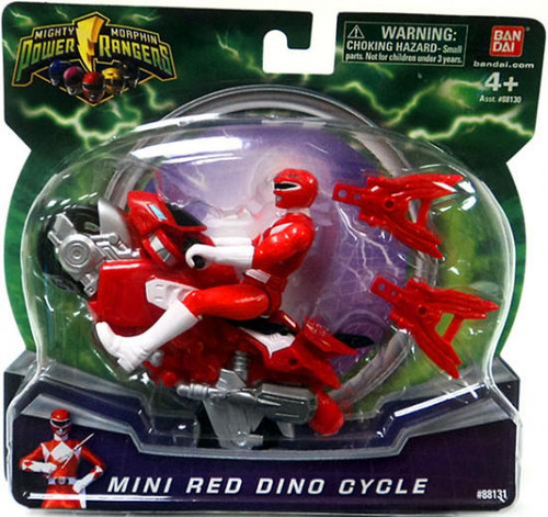 Power Rangers Mighty Morphin 2010 Mini Red Dino Cycle Action Figure Vehicle