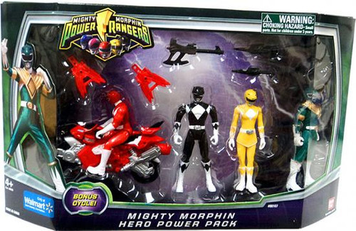 Power Rangers Mighty Morphin Hero Power Pack Exclusive Action Figure Set