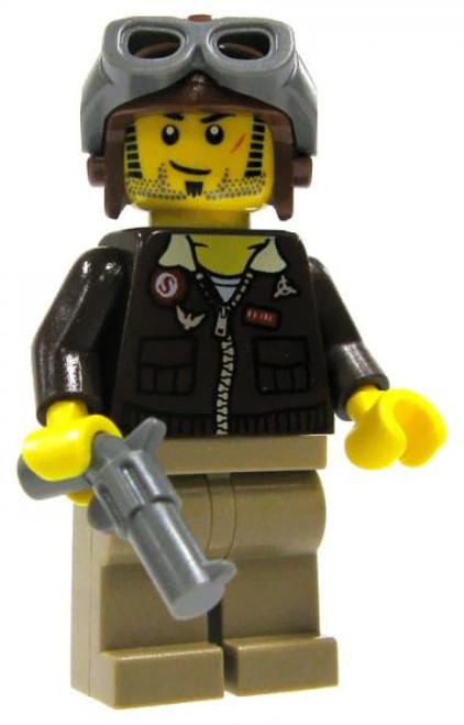 LEGO Pharaoh's Quest Loose Pilot Jake Raines Minifigure #1 [Loose]