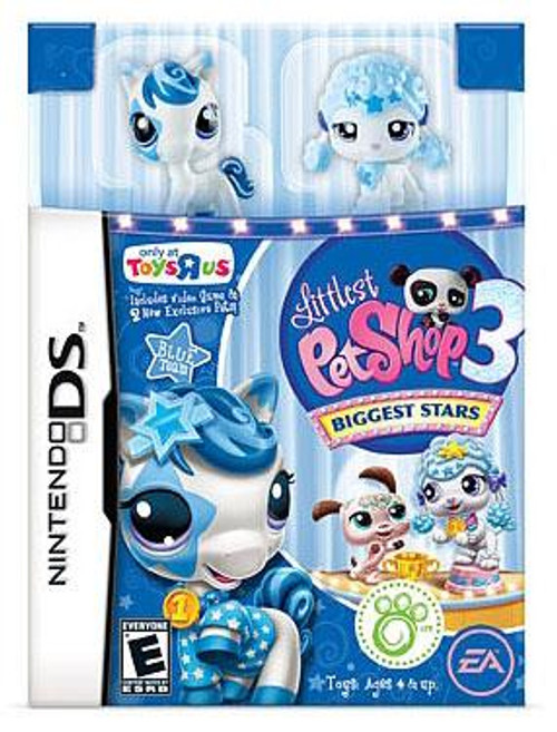 Littlest Pet Shop Nintendo DS Biggest Stars Exclusive Video Game [Blue Team]