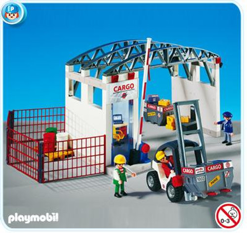 Playmobil Transport Cargozone with Forklift Set #4314
