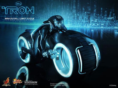 Tron Movie Masterpiece Sam Flynn with Light Cycle 1/6 Collectible Figure Set